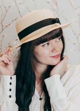 соломенная шляпка-канотье WORSICO