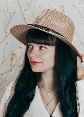 Соломенная шляпка-федора LONSUNNOR