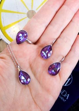Комплект украшений с кристаллами  Swarovski