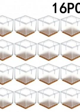 16pcs Silicone Chair Leg Cap Table Feet Covers Floor Protectors.