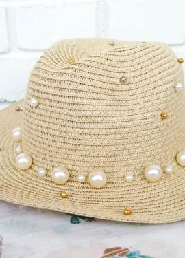 Шляпка с жемчужинами