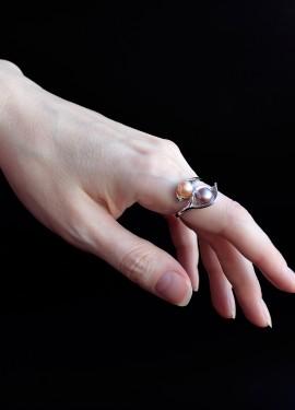 Кольцо с натуральным жемчугом с AliExpress