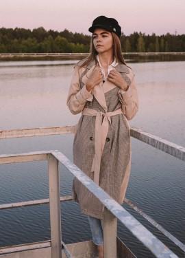 Крутой тренч на теплую осень из Simplee Apparel