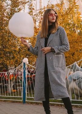 Легкое пальто в гусиную лапку с Алиэкспресс
