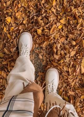 Белые ботинки на массивной подошве с Алиэкспресс