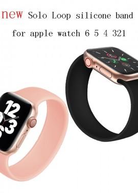 Стекло и новые solo loop ремешки для Apple Watch SE с Ali