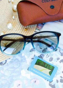 Фотохромные очки с поляризацией в цветной оправе