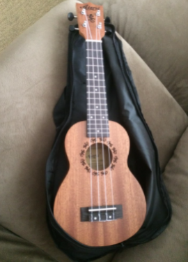 21 inch ukelele mahogany Soprano gecko  musical gifts instrument 4 string