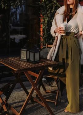 Невероятно стильные широкие брюки с высокой талией