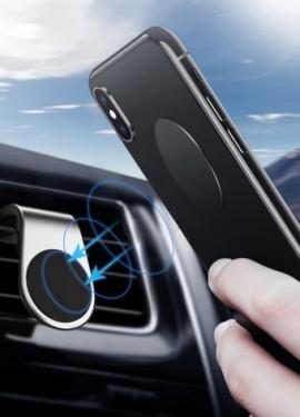 Автомобильный магнитный держатель телефона в воздуховод. Надежно крепится в дефлектор.