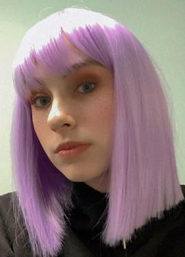 Фиолетовый парик.