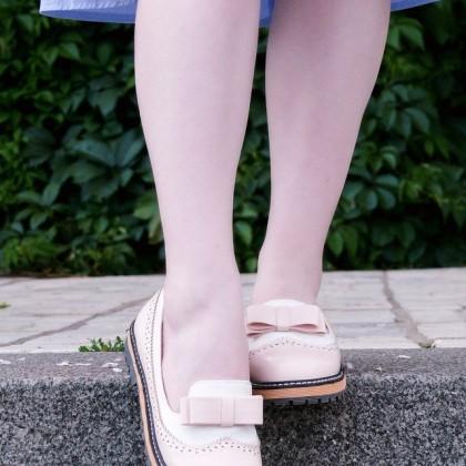 Очаровательные розовые туфли с бантиками в стиле японской лолиты