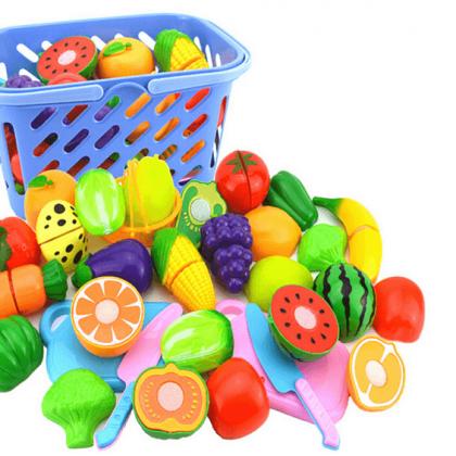 Набор игрушечных овощей, которые можно разрезать