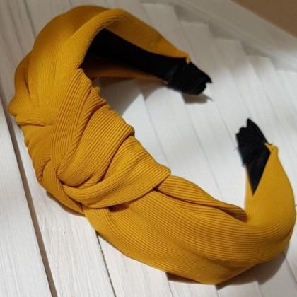 Ободок горчичного цвета
