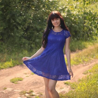 Кружевное платье Mlanxeue