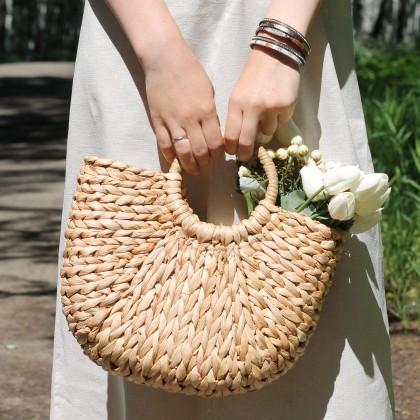 Классная соломенная сумка на лето.