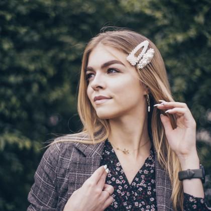 Серьги-кольца с пресноводным жемчугом с Алиэкспресс