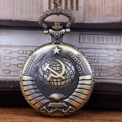 Россия  эмблема СССР   серп  и молот карманные часы