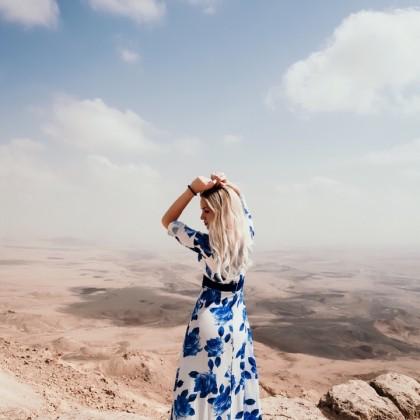 Длинное платье с цветочным принтом от магазина Daily Clothes