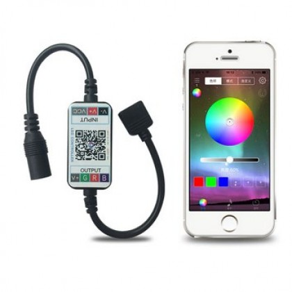 RGB Led Controller APP Bluetooth RGB Music Controller For Led Strip.