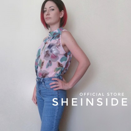 Шифоновая летняя блузка от бренда Sheinside.