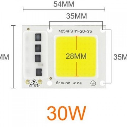 LED COB Chip 30W, 220V for Spotlight Floodlight Outdoor Lamp