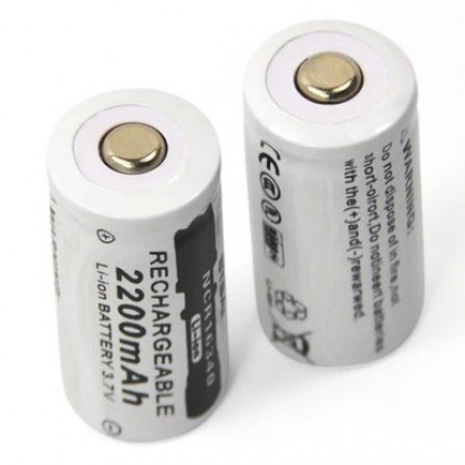 3.7V 2200mAh Lithium Li-ion 16340 Battery