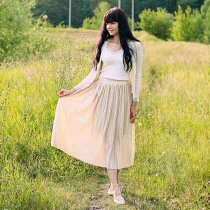 Красивая плиссированная юбка MsDaste