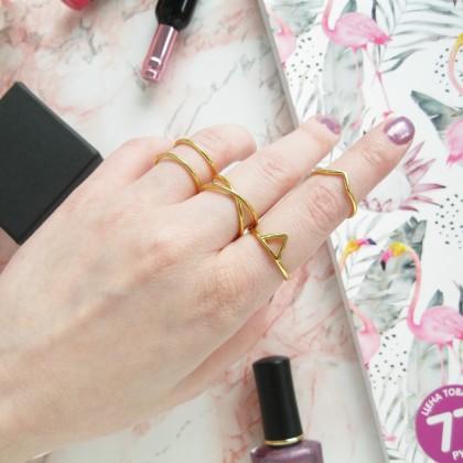 """Кольца в минималистичном дизайне с покрытием """"под золото"""" из магазина Minimalist925 silver Store"""
