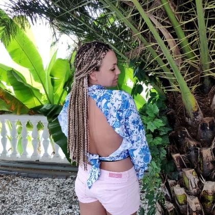 Очаровательная блузка с открытой спиной из магазина OOTN Official Store