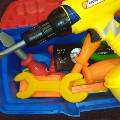 Как у папы - детский набор инструментов с АлиЭкспресс.