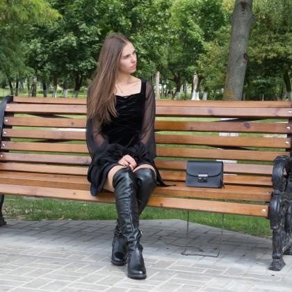 Сапоги ботфорты из ПВХ на теплую осень/весну!