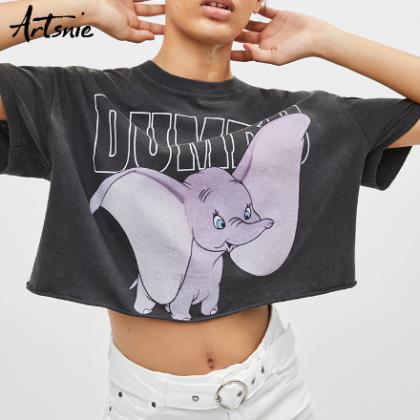 Укороченная футболка Dumbo
