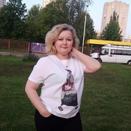 Хлопковая блуза-футболка