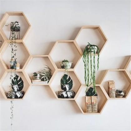 Сканди-полочки шестиугольники с Алиэкспресс