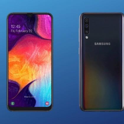 Большой экран с суперской цветопередачей  это Samsung Galaxy A50 2019 64GB Black.