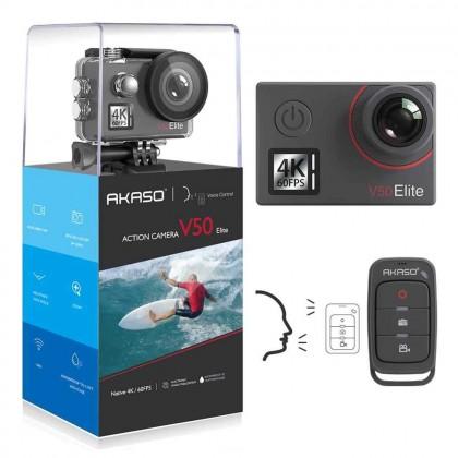 Экшн камера Голосовое управление EIS40 м Водонепроницаемая AKASO V50 Elite 4 K/60fps сенсорный экран