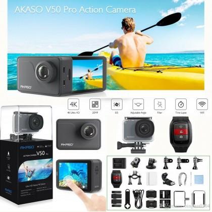 Экшн-камера с сенсорным экраном AKASO V50 PRO 4K Экстремальная Спортивная угол обзора 30 м