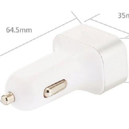 """3в1. Автомобильный usb зарядный адаптер 3 порта 1A/2.1A 12-В от """"прикуривателя"""""""