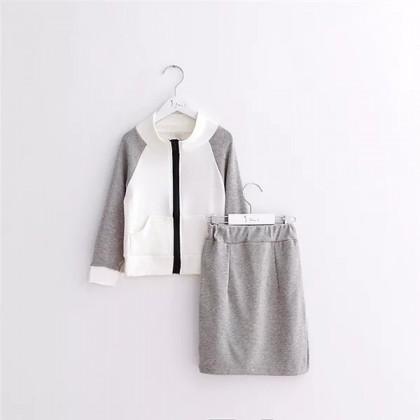Классный спортивный костюм с юбочкой на осень для девочек 3-6 лет с Алиэкспресс
