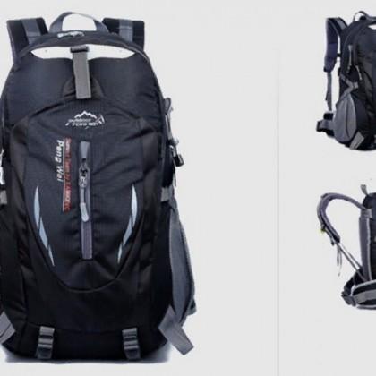 Нейлоновый черный водонепроницаемый рюкзак для Мужчин.