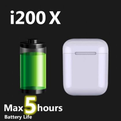 i200 TWS наушники-вкладыши  с Беспроводной зарядкой 6D супер бас