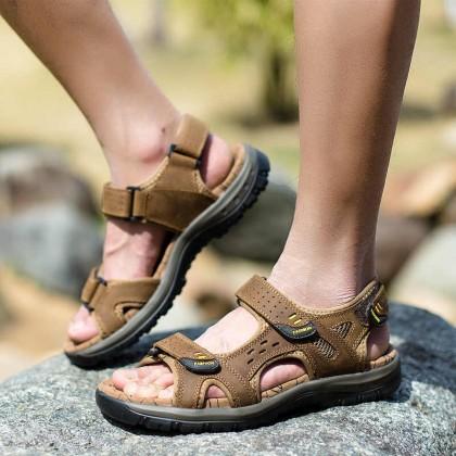 Мужские кожаные сандалии в римском стиле