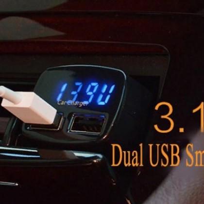 4 в 1. USB зарядное устройство DC 5 В 3.1A Универсальное напряжение/температура/измеритель тока