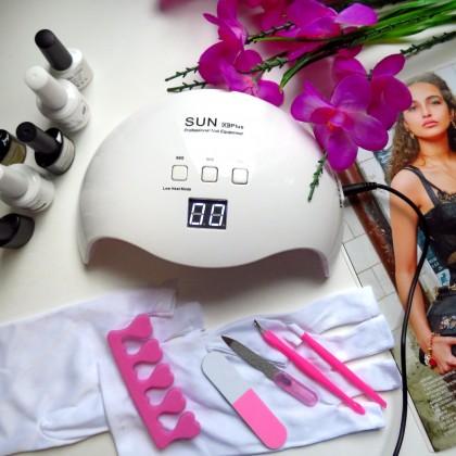 Отличная профессиональная светодиодная лампа для маникюра SUN X9 Plus по доступной цене