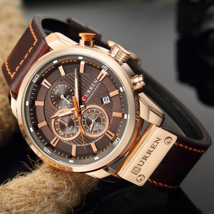 Роскошные наручные часы CURREN relogio masculino