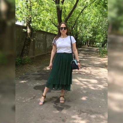 Изумрудная юбка с Aliexpress