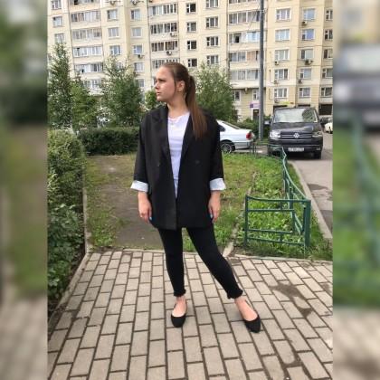 Пиджак с асимметричным запахом
