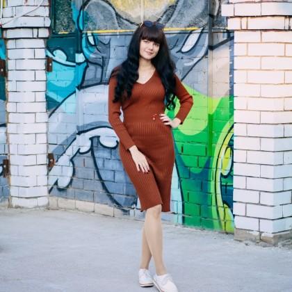 Трикотажное платье xiaoxiao