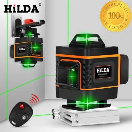Лазерный уровень HILDA 16 линий 4D самонивелирующийся